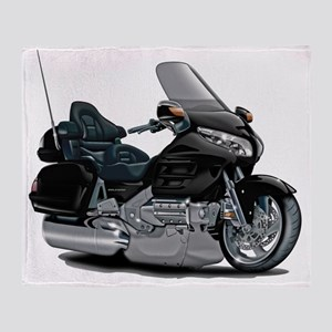 Goldwing Black Bike Throw Blanket