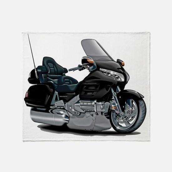 Goldwing Black Bike Throw Blanket