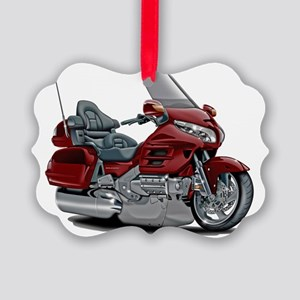 Goldwing Maroon Bike Picture Ornament