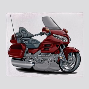 Goldwing Maroon Bike Throw Blanket