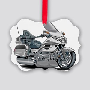 Goldwing White Bike Picture Ornament