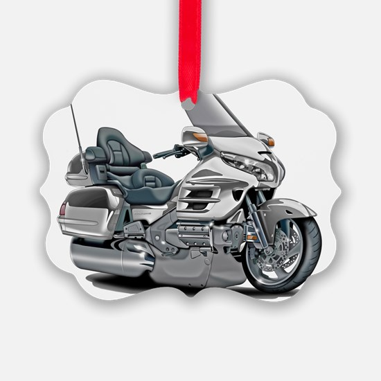 Goldwing White Bike Ornament