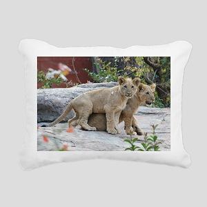 lion cubs Rectangular Canvas Pillow