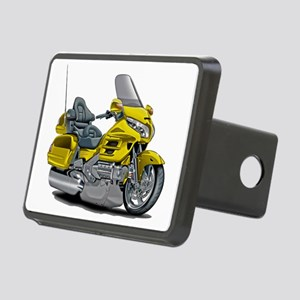 Goldwing Yellow Bike Rectangular Hitch Cover
