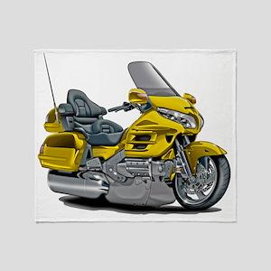 Goldwing Yellow Bike Throw Blanket