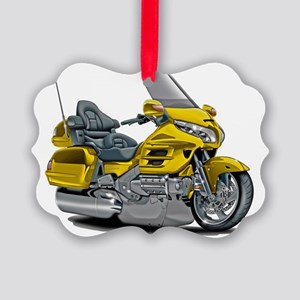 Goldwing Yellow Bike Picture Ornament