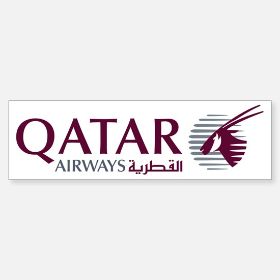 2000px-Qatar_Airways_Logo Sticker (Bumper)