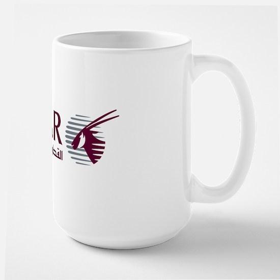 2000px-Qatar_Airways_Logo Large Mug
