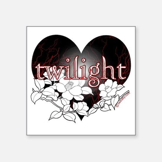 """Twilight Flowers by Twibaby Square Sticker 3"""" x 3"""""""
