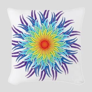 mandala7ChakrasShirt2 Woven Throw Pillow