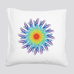 mandala7ChakrasShirt2 Square Canvas Pillow