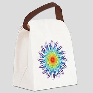 mandala7ChakrasShirt2 Canvas Lunch Bag