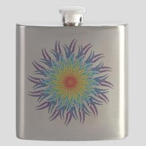 mandala7ChakrasShirt2 Flask