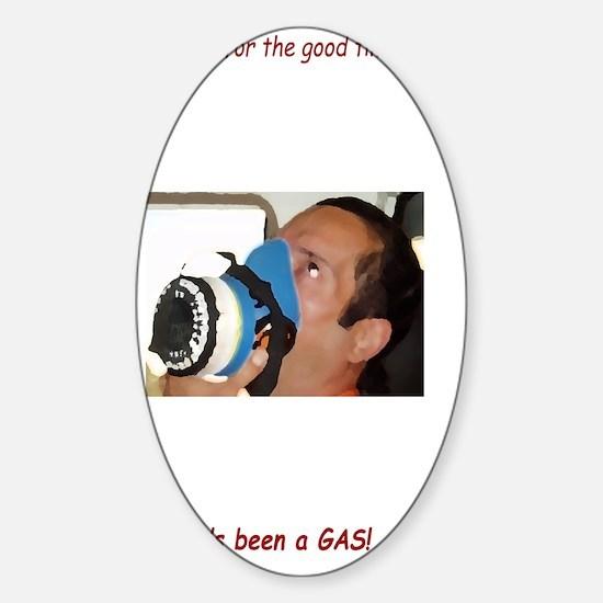 itsagas[5x8_journal] Sticker (Oval)