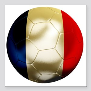 "France World Cup Square Car Magnet 3"" x 3"""
