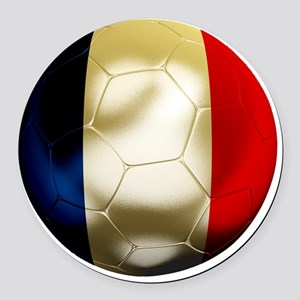 France World Cup Round Car Magnet