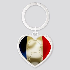 France World Cup Heart Keychain