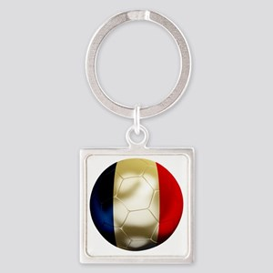 France World Cup Square Keychain