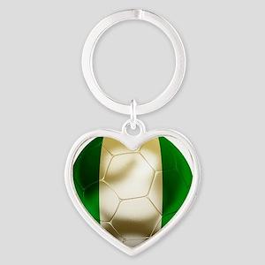 Nigeria World Cup 1 Heart Keychain