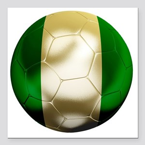 "Nigeria World Cup 1 Square Car Magnet 3"" x 3"""