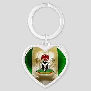 2-Nigeria World Cup 2 Heart Keychain