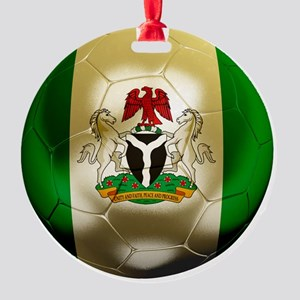 2-Nigeria World Cup 2 Round Ornament