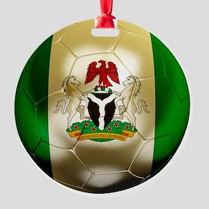 2-Nigeria World Cup 2 Round Ornament