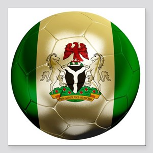 "2-Nigeria World Cup 2 Square Car Magnet 3"" x 3"""