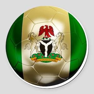 2-Nigeria World Cup 2 Round Car Magnet