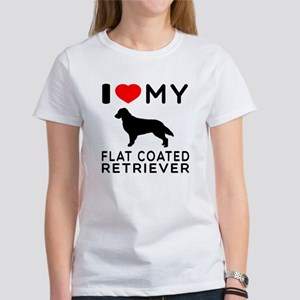 I Love My Flat Coated Retriever Women's T-Shirt