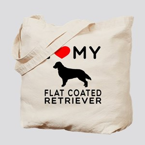 I Love My Flat Coated Retriever Tote Bag