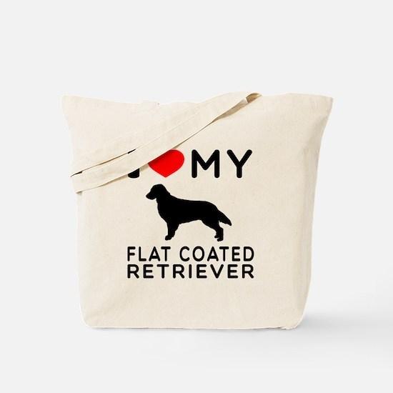 I Love My Flat Coated Retriever Tote Bag