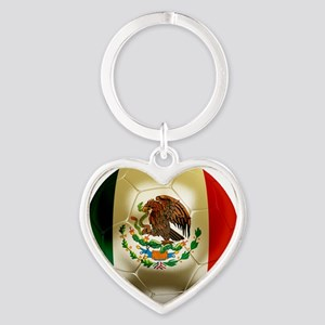 Mexico World Cup 1 Heart Keychain