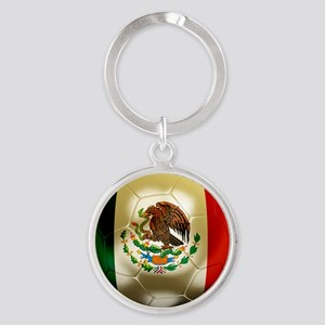 Mexico World Cup 1 Round Keychain