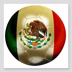 "Mexico World Cup 1 Square Car Magnet 3"" x 3"""