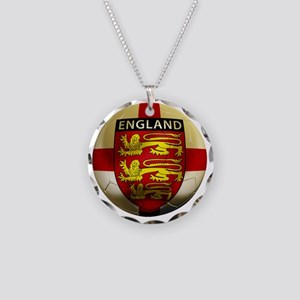 England Football2 Necklace Circle Charm