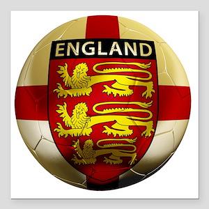 """England Football2 Square Car Magnet 3"""" x 3"""""""