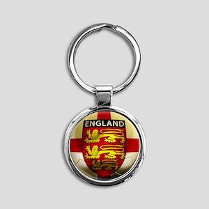England Football2 Round Keychain