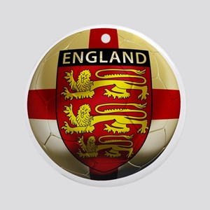 England Football2 Round Ornament