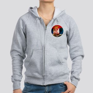 Serbia Football Women's Zip Hoodie