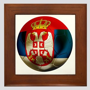 Serbia Football Framed Tile