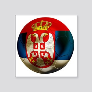 "Serbia Football Square Sticker 3"" x 3"""