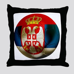 Serbia Football Throw Pillow