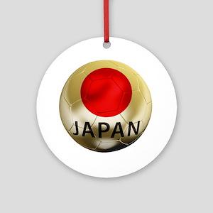 Japan Football Round Ornament