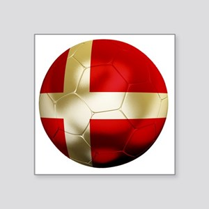 "Denmark Football Square Sticker 3"" x 3"""