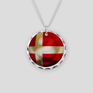 Denmark Football Necklace Circle Charm