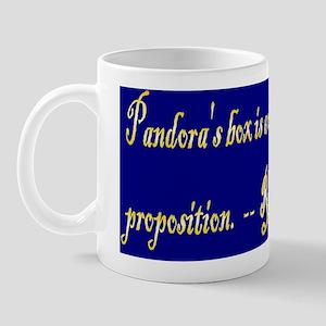 Pandora's box(small framed print) Mug
