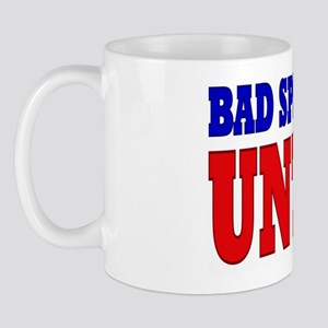 bad spellers untie bs yard sign right 1 Mug