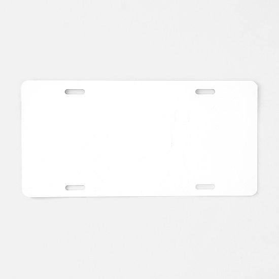 Baseball B White Aluminum License Plate