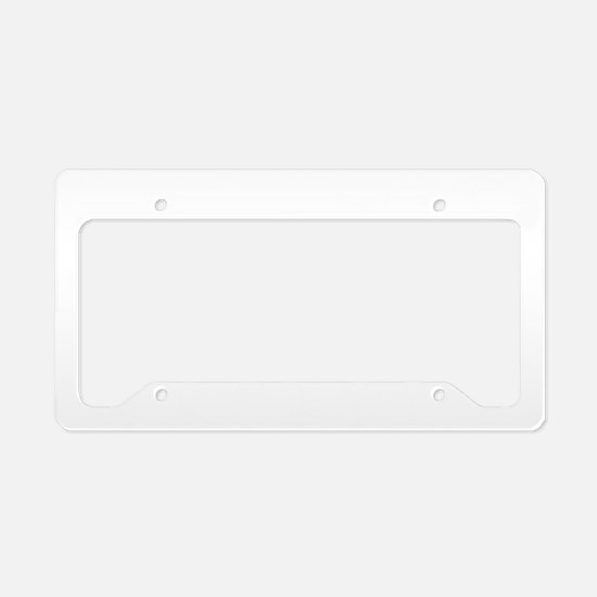 Guitar Player B White License Plate Holder